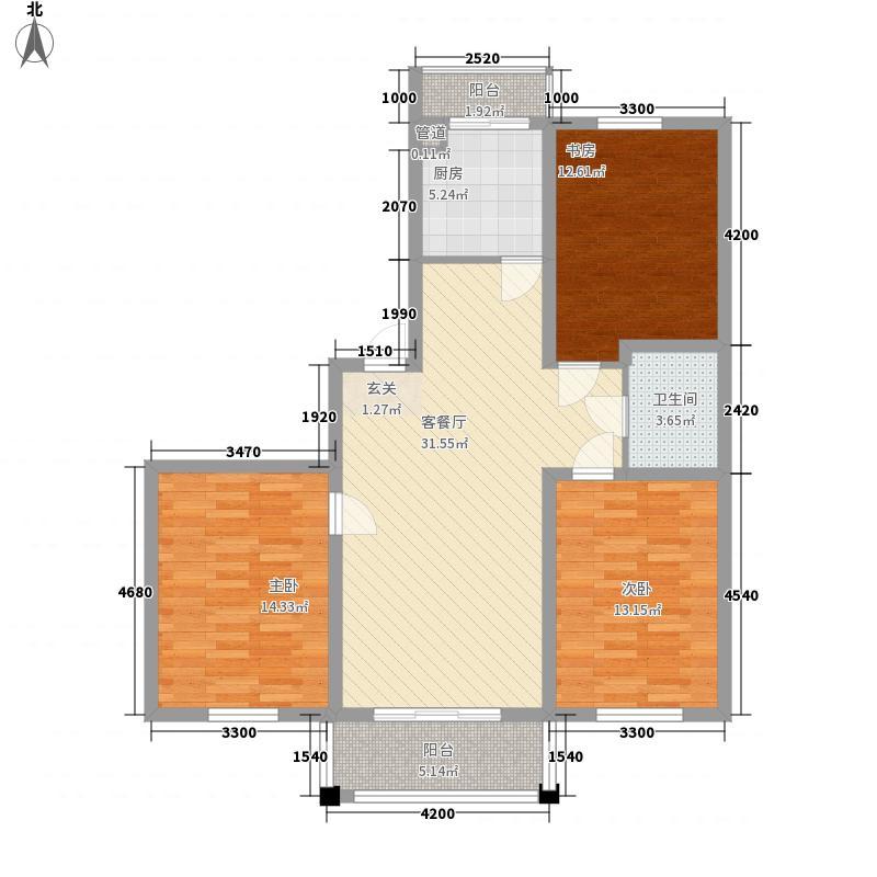 恒运豪庭113.72㎡恒运豪庭户型图h户型3室2厅1卫户型3室2厅1卫