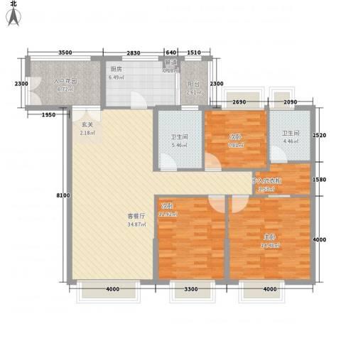 海湾半山3室1厅2卫1厨139.00㎡户型图