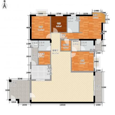 世纪新潮4室1厅4卫1厨225.00㎡户型图
