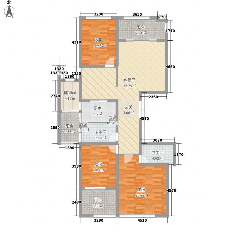 斗池新居 3室户型图