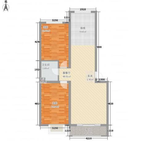 御景嘉园2室1厅1卫0厨96.00㎡户型图