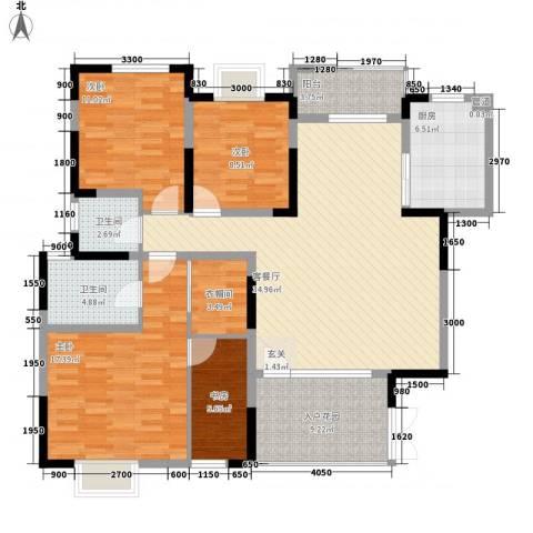 交通厅宿舍4室1厅2卫1厨155.00㎡户型图