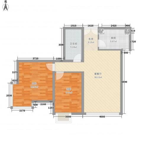 如意楼2室1厅1卫1厨122.00㎡户型图