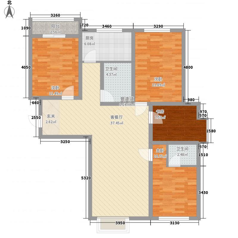 昌盛小区花4室2厅1户型4室