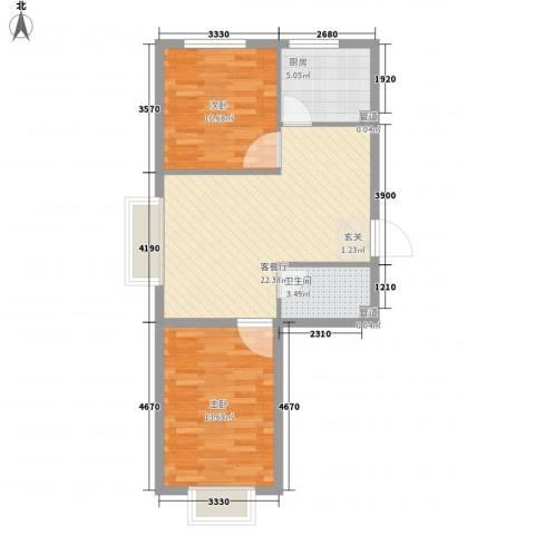 阳光嘉园2室1厅1卫1厨78.00㎡户型图