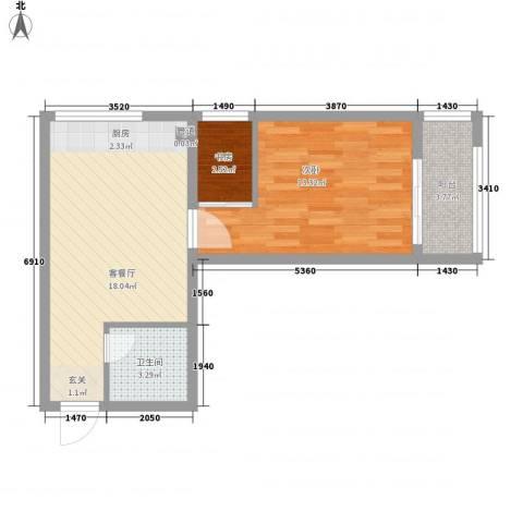 书香国际公寓2室1厅1卫0厨59.00㎡户型图