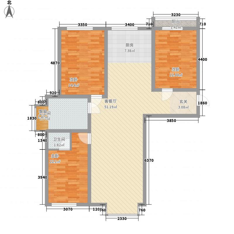 昌盛小区花3室2厅2户型3室