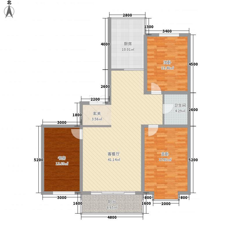 鑫丰国际142.20㎡鑫丰国际户型图3室2厅1卫户型10室