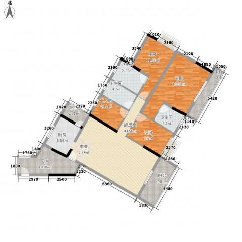 阳光花园3室0厅3卫0厨184.00㎡户型图