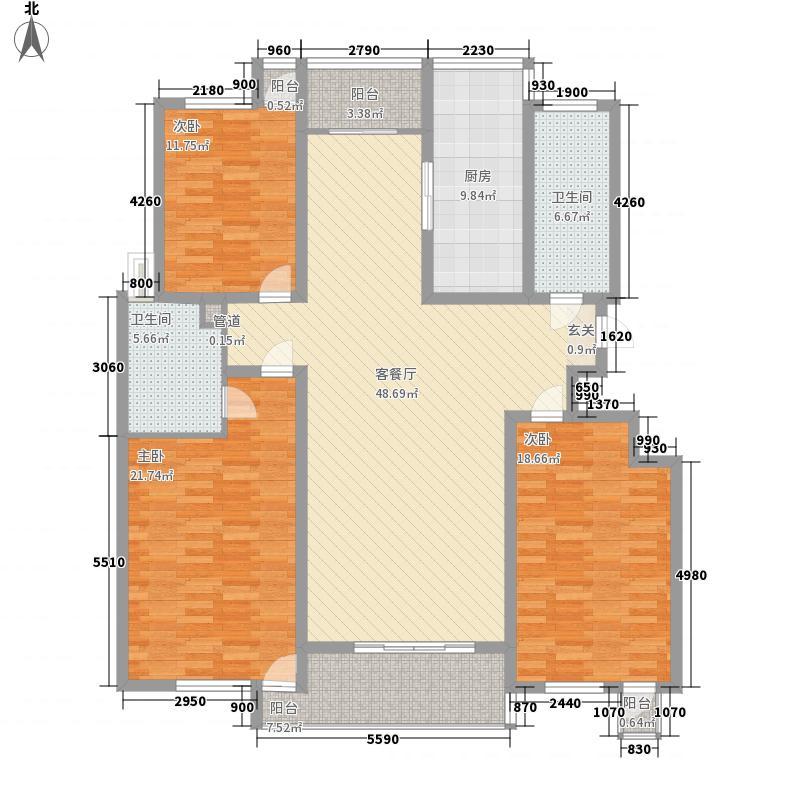 嘉陵江小区322户型3室2厅2卫