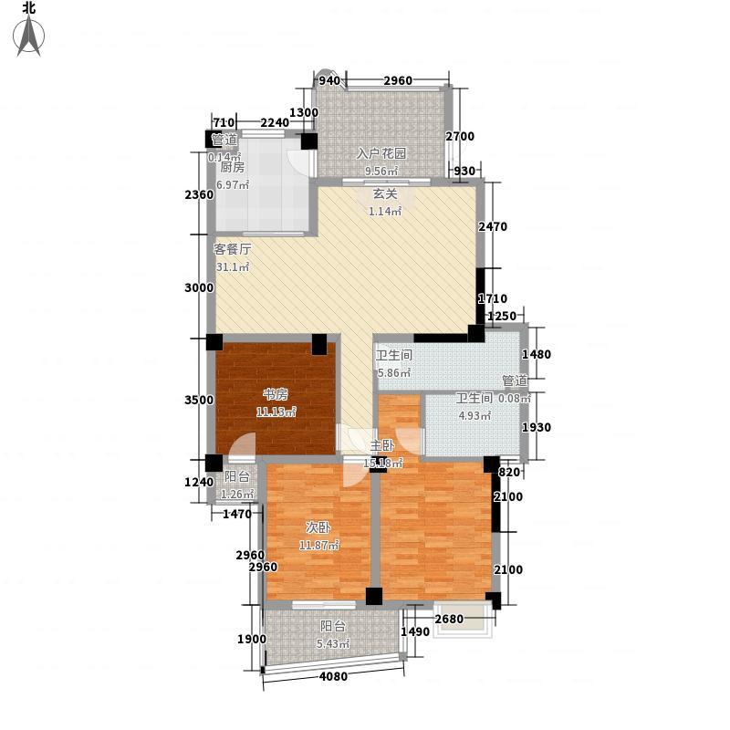 富贵天成127.06㎡富贵天成户型图3室2厅2卫1厨户型10室