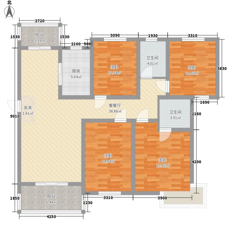 古邑158.00㎡小区户型3室