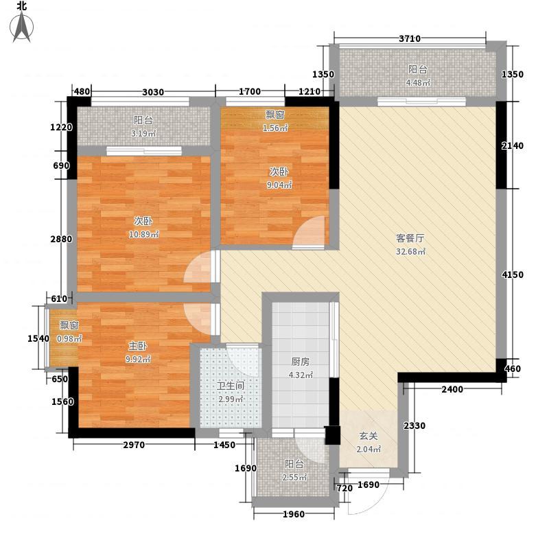 铂金时代105.65㎡铂金时代户型图A1户型10室