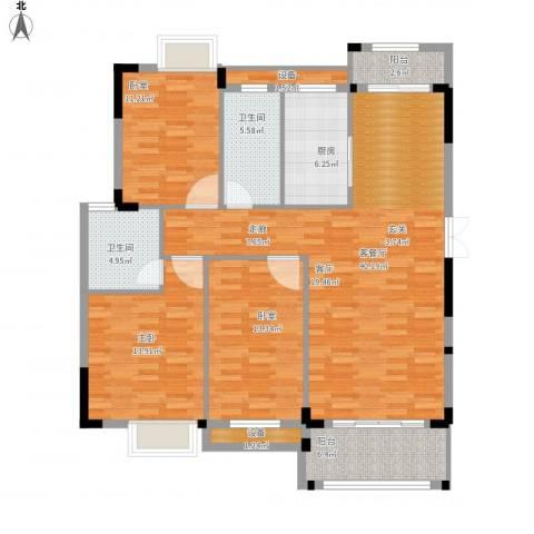 联泰棕榈庄园1室1厅2卫1厨150.00㎡户型图