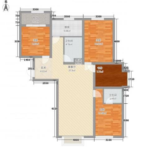 奈伦和兴园4室1厅2卫1厨140.00㎡户型图