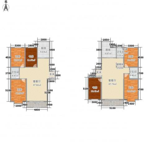 鑫丰国际6室2厅3卫2厨224.29㎡户型图