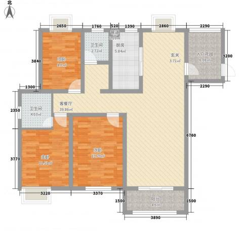 2009庄园3室1厅2卫1厨141.00㎡户型图