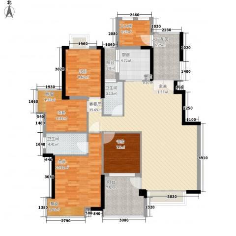 钰海山庄4室1厅2卫1厨154.00㎡户型图