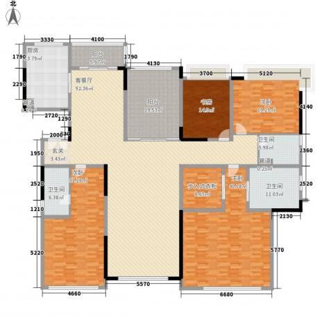 五洲花城澳洲园4室1厅3卫1厨374.00㎡户型图