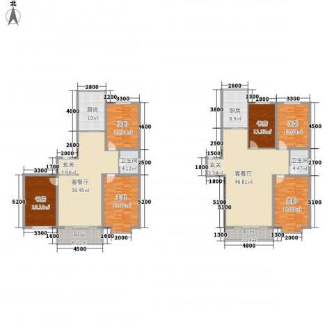 鑫丰国际6室2厅2卫2厨212.18㎡户型图
