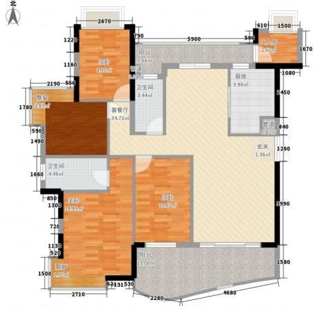 钰海山庄4室1厅2卫1厨162.00㎡户型图