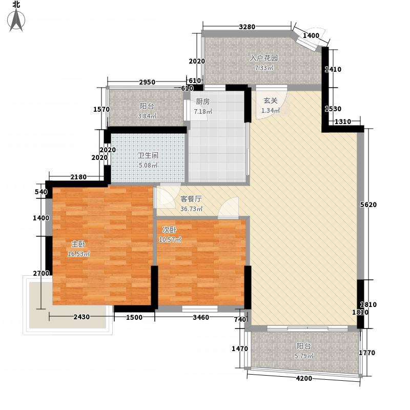 金利安公寓130.00㎡金利安公寓2室户型2室