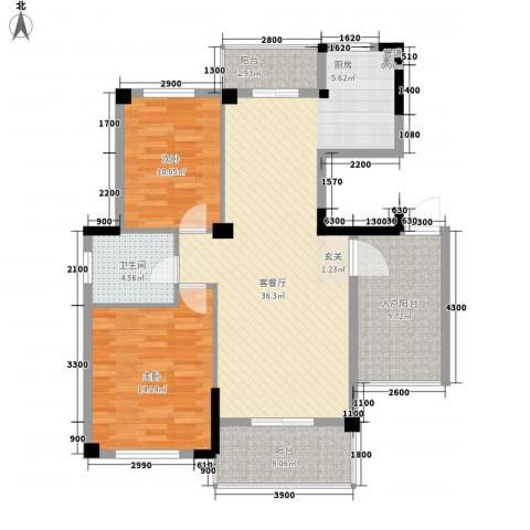 鹦鹉花园四期2室1厅1卫0厨118.00㎡户型图
