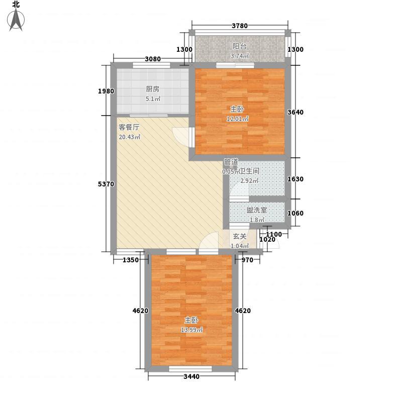天擎・书林院87.21㎡天擎・书林院户型图D1户型2室1厅1卫1厨户型2室1厅1卫1厨