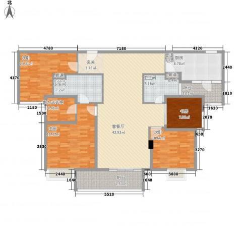 昌盛双喜城4室1厅2卫1厨183.00㎡户型图