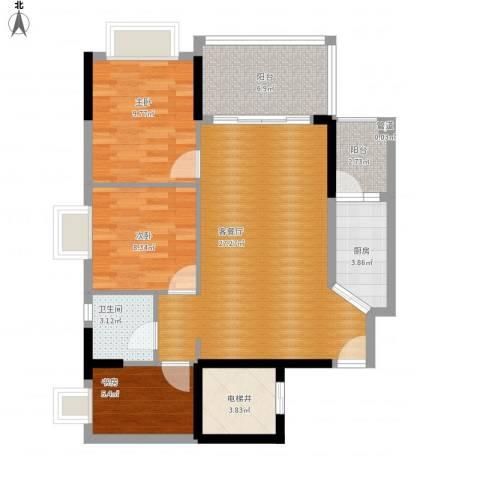 恒大山水城别墅3室1厅1卫1厨102.00㎡户型图