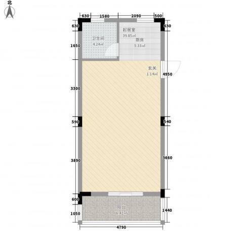 滨湖家园1卫0厨69.00㎡户型图