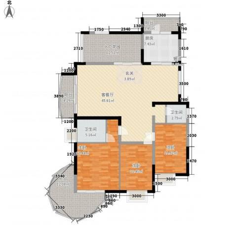 新世纪丽江豪园四期3室1厅2卫1厨189.00㎡户型图