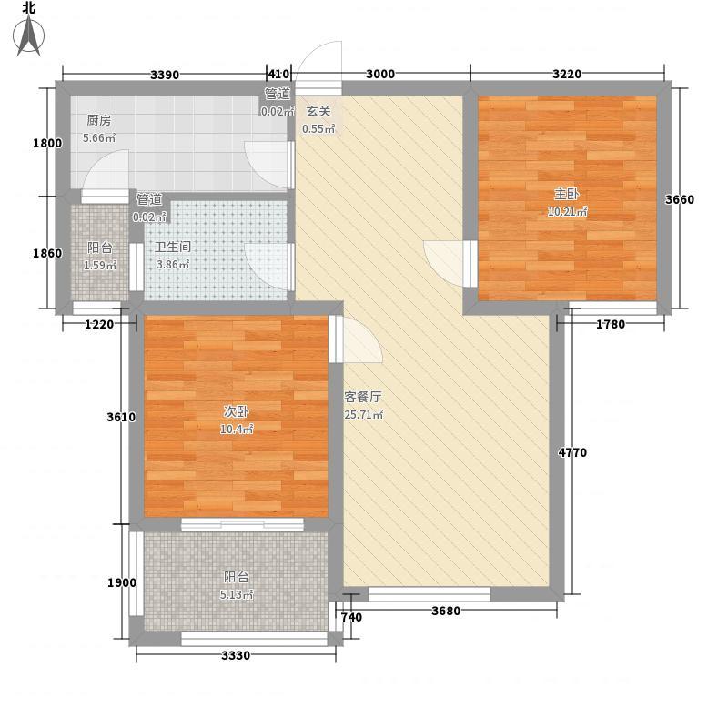 上隽嘉苑86.38㎡上隽嘉苑户型图E`-3型-86.38M22室2厅1卫1厨户型2室2厅1卫1厨