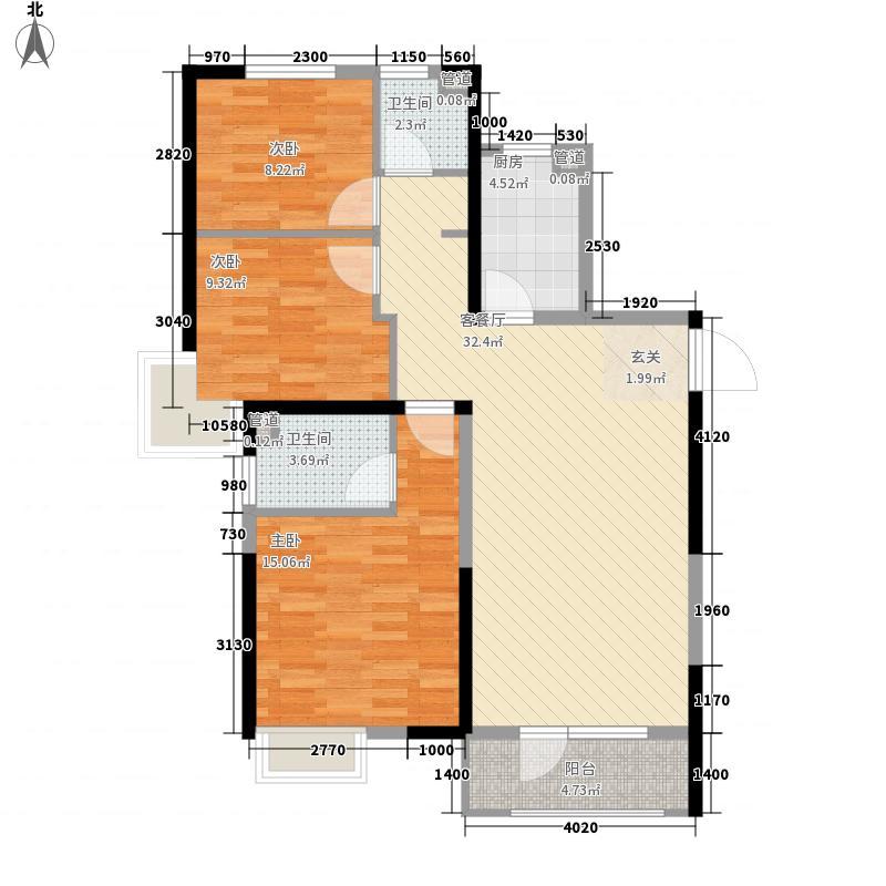 和达�城3#楼C1户型