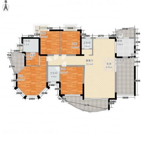 新世纪丽江豪园四期4室1厅3卫1厨237.00㎡户型图