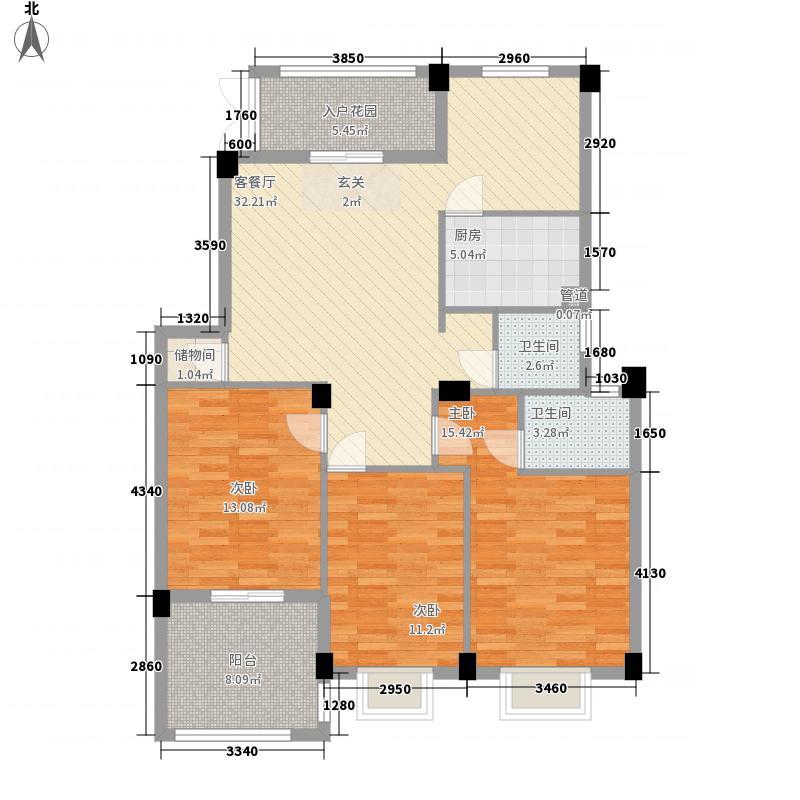 香江红海园三期香江枫景户型图3室2厅2卫1厨