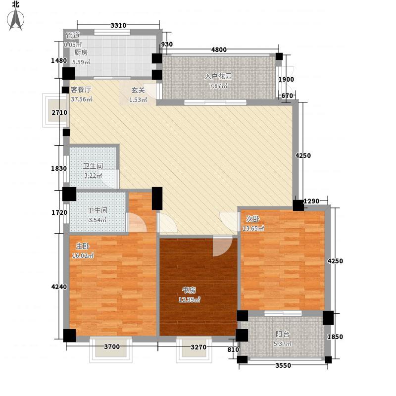 香江红海园三期香江枫景户型图3室2厅2卫