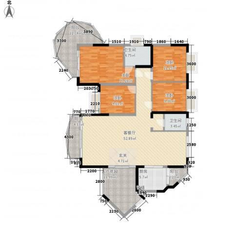 新世纪丽江豪园四期4室1厅2卫1厨202.00㎡户型图