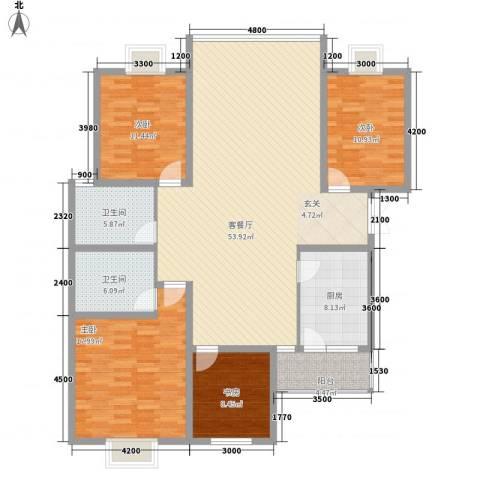 江南人家4室1厅2卫1厨178.00㎡户型图