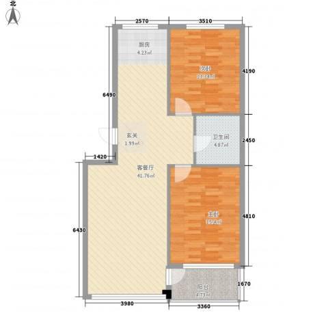 金润花园三期2室1厅1卫0厨110.00㎡户型图