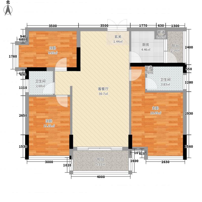 盈拓郦苑110.49㎡盈拓郦苑户型图5栋2-17层1、2单元(03+04)单位3室2厅2卫1厨户型3室2厅2卫1厨