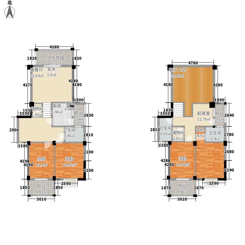 香江红海园三期香江枫景户型图4室3厅