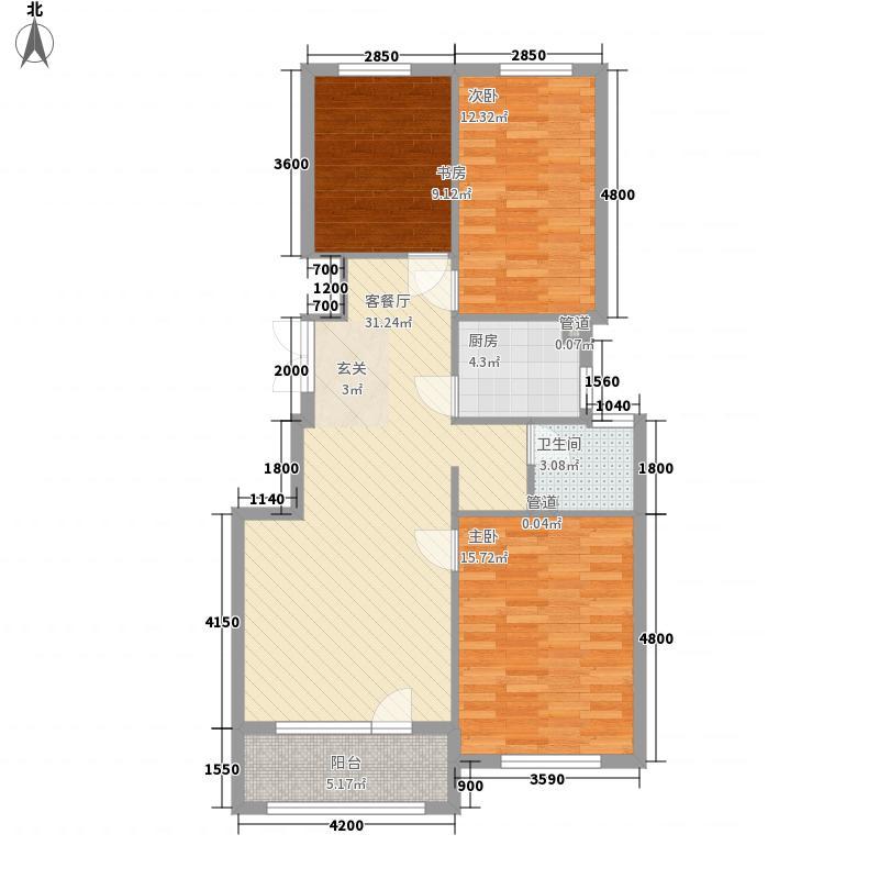 天鸿1.7英里105.00㎡天鸿1.7英里户型图3号楼F户型3室2厅1卫1厨户型3室2厅1卫1厨