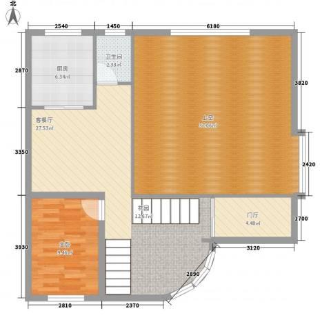 东方苑1室1厅1卫1厨288.00㎡户型图