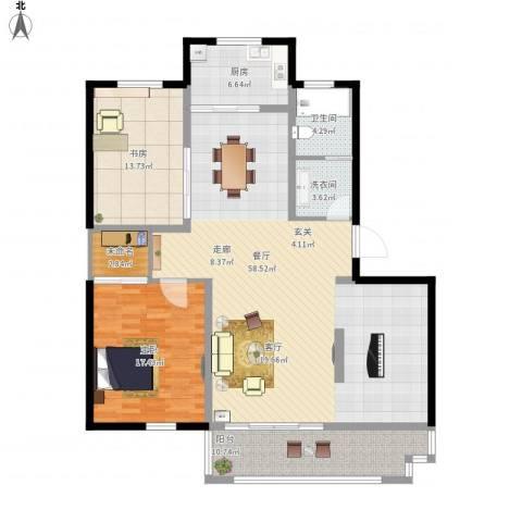 万泰香河佳园2室1厅1卫1厨165.00㎡户型图