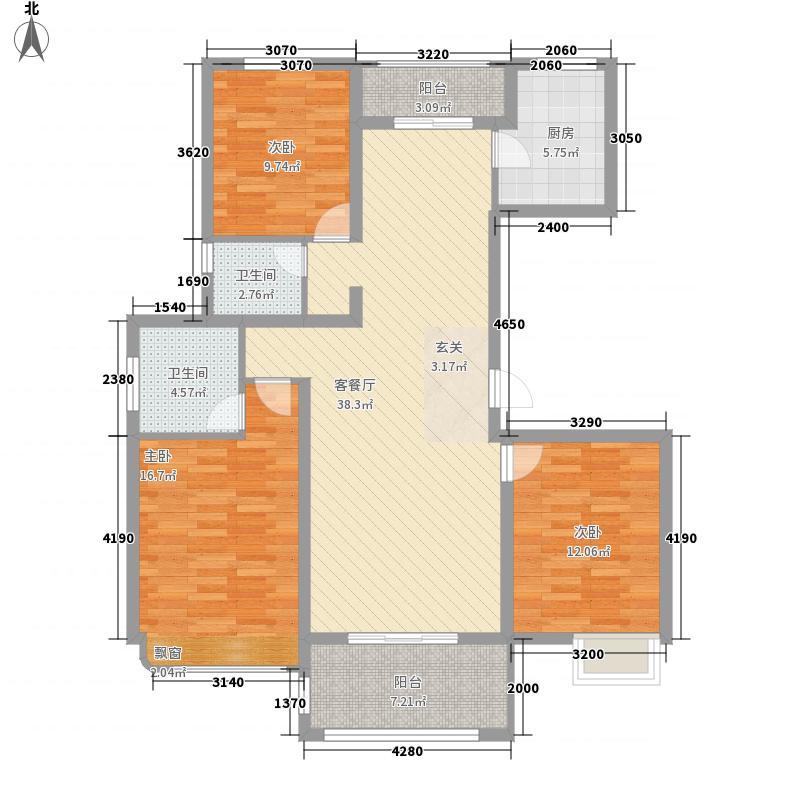 水绘绿源142.00㎡Q户型3室2厅2卫1厨