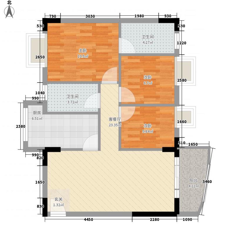 丽水湾81.80㎡丽水湾户型图3室2厅户型图3室2厅2卫1厨户型3室2厅2卫1厨