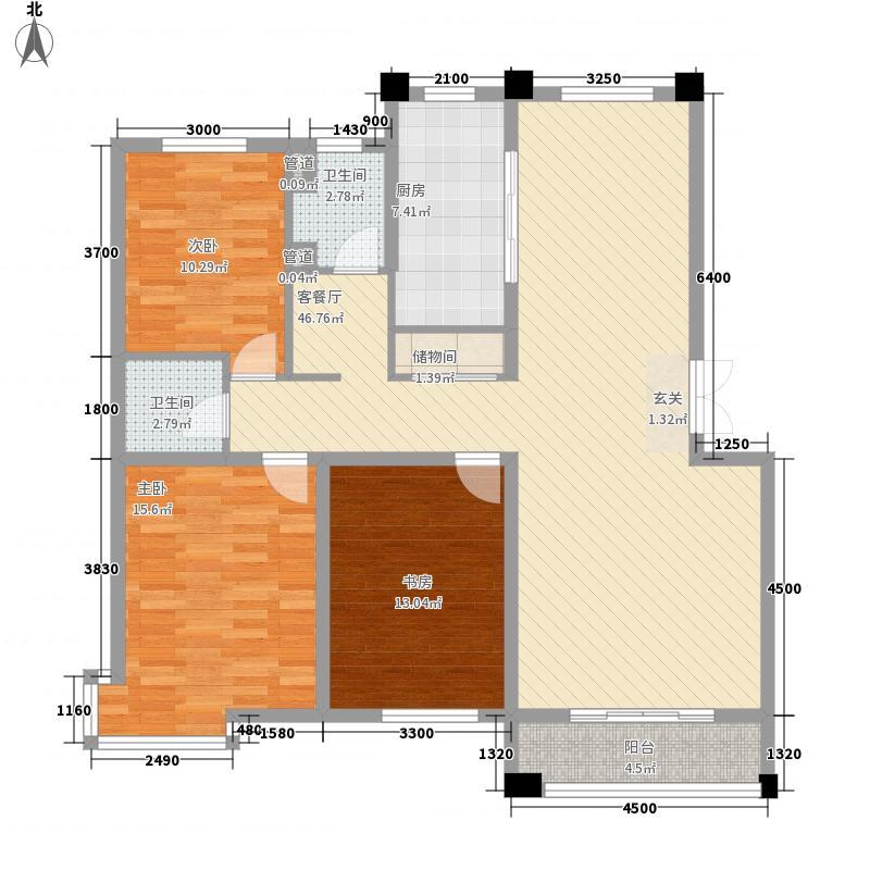 南辰雅园13.00㎡B户型3室2厅2卫1厨