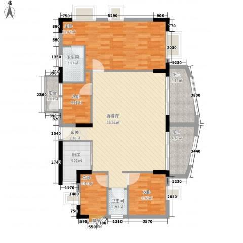 丽水湾4室1厅2卫1厨126.00㎡户型图