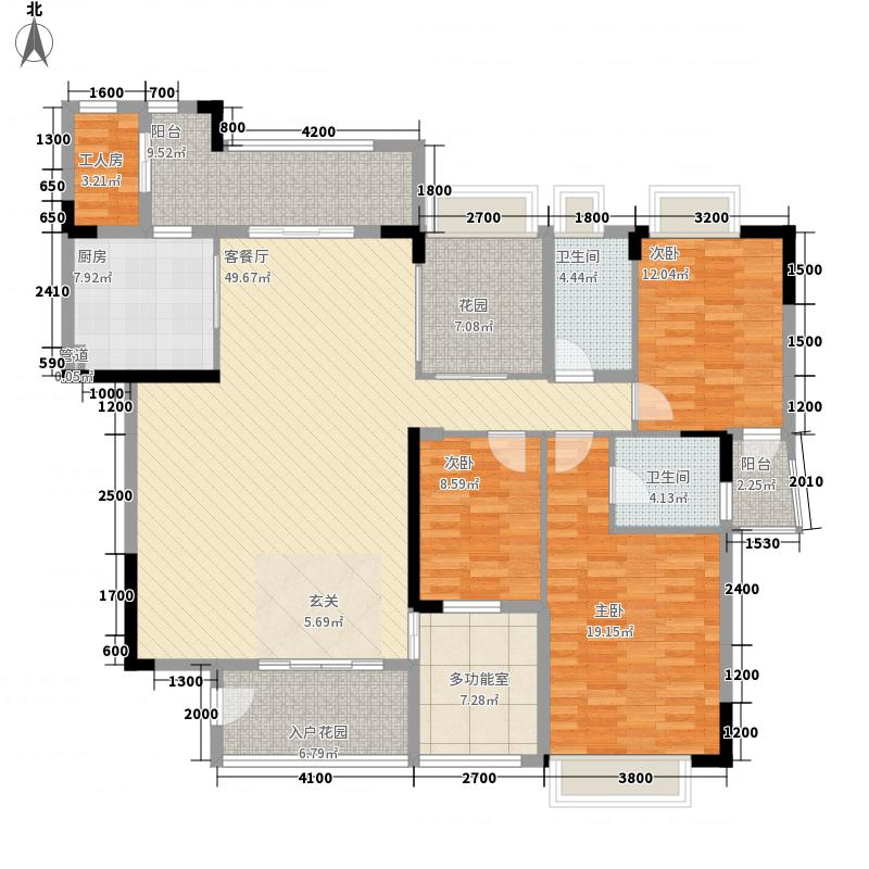 五洲康城276.00㎡户型4室